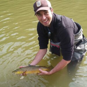 Retired MLB leftie, Jeff Francis with a lovely Grand River brown.