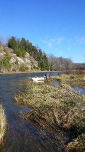 Late fall fly fishing in Southern Ontario