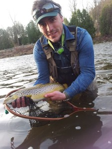 High water success! Nick Groves with a fish taken during 20cms in 2014.