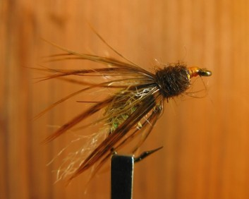 This Don Bastian pupa is fairly specific in terms of material as the combination makes the pattern very natural underwater.