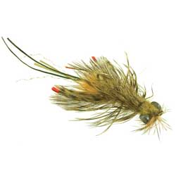 Small Crayfish, hex nymphs, dragon flies or any combination of those patterns will often make the difference after cold fronts.