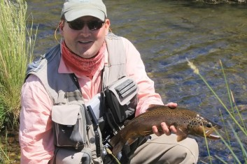 A nice southern Ontario brown trout taken on an articulated leech.